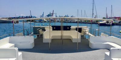Grupo Boramar Catamaranes-Crucero con comida y baño en València-Catamaran cruise with paella and swimming in València-Creuer amb menjar i bany a València