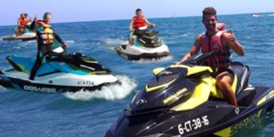 Viunatura-Vive la adrenalina a bordo de moto de agua en Torrevieja-Live the adrenaline aboard jet ski in Torrevieja-Viu l'adrenalina a bord de moto d'aigua en Torrevieja