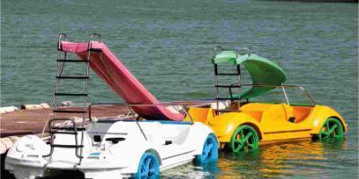 SuAventura-Hidropedales en el río Júcar-Pedal boats in the river Júcar-Hidropedals pel riu Xúquer