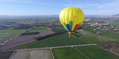 Aeroglobo-Paseo en globo sobre Alicante-Hot air balloon flight in Alicante-Passeig en globus per Alacant
