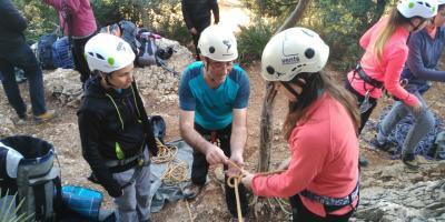 Vents de Muntanya-Iniciación a la escalada deportiva-Initiation to sport climbing-Iniciació a l'escalada esportiva
