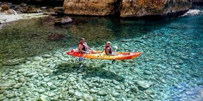 The ultimate sea cave kayak & snorkel tour