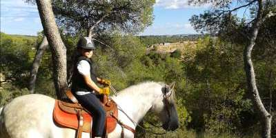 The forest of la Vallesa on horseback
