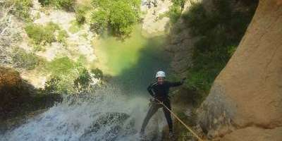 Canyoning along watercourses