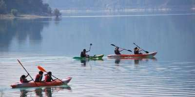 Calm-water kayaking