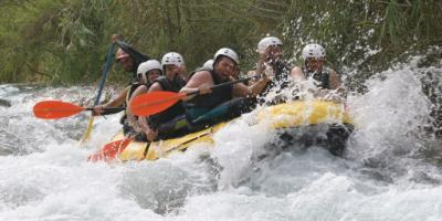 Rafting on the river Cabriel