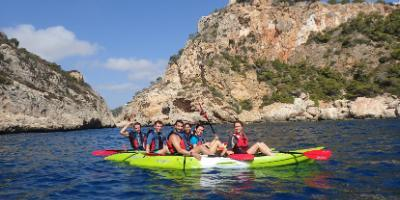 Kayak & snorkel tours to Cova Tallada and Cala Granadella