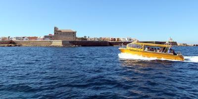 Water taxi! Te llevamos a la Isla de Tabarca desde Santa Pola