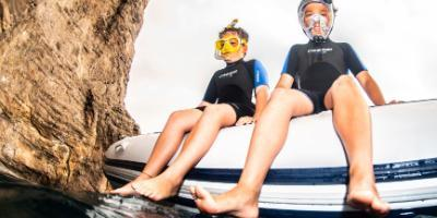 Boat snorkelling excursion for the entire family!