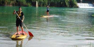 Paddle surf at Mijares river