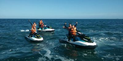 Jet skiing in the coves of Torrevieja