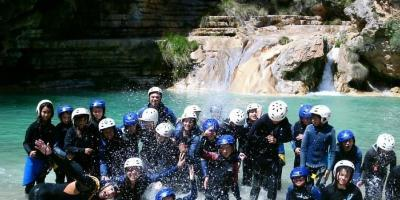 School trips to the river Cabriel